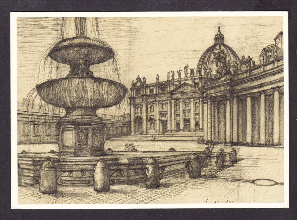 Vatican - set of 5 stationery postcards